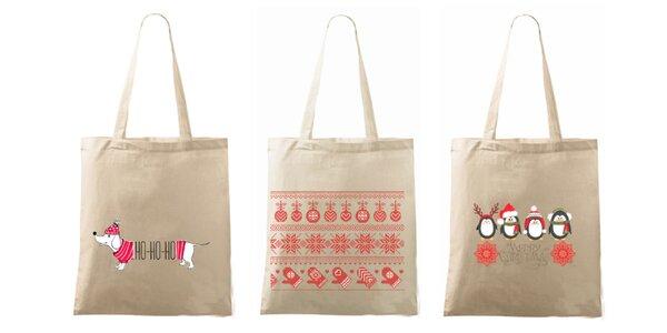 Vianočná taška s milou potlačou