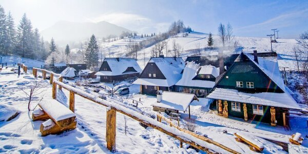 Zimná dovolenka v originálnych dreveniciach pri Terchovej so saunou