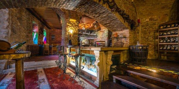 Romantika v kaštieli s vínom vlastnej produkcie