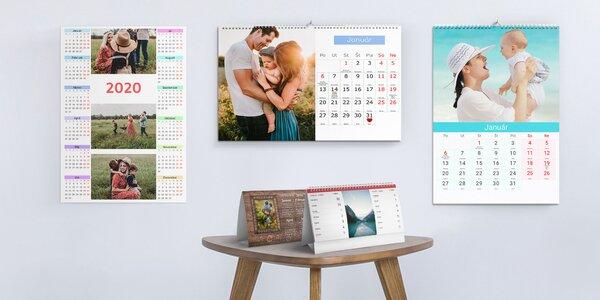 Kalendáre z vlastných fotografií: nástenné i stolové