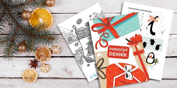Vianočný špeciál aj so SÚŤAŽOU je tu! Denník plný rébusov, maľovaniek a zábavy.