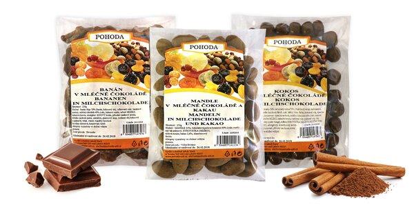 Ovocie a orechy v mliečnej čokoláde Pohoda