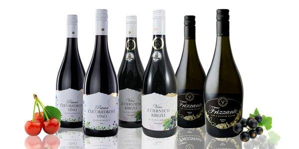 Ovocné vína – bazové, broskyňové a ríbezľové