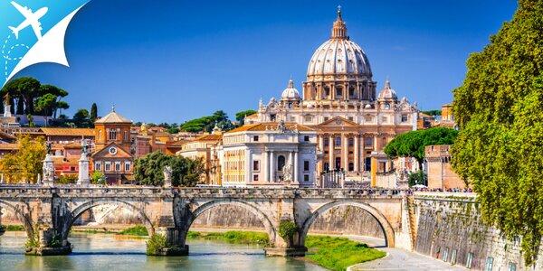 Letecký zájazd do Ríma: obojsmerná letenka, ubytovanie aj strava