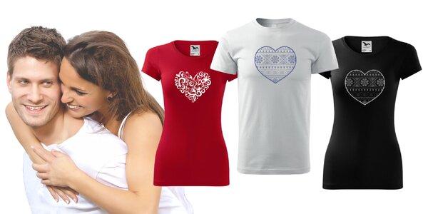 Romantické ľudové tričká pre dámy aj pánov