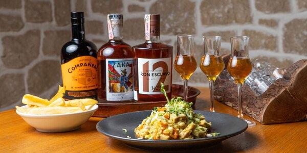 Degustácia rumov plus karibská špecialita na zahryznutie