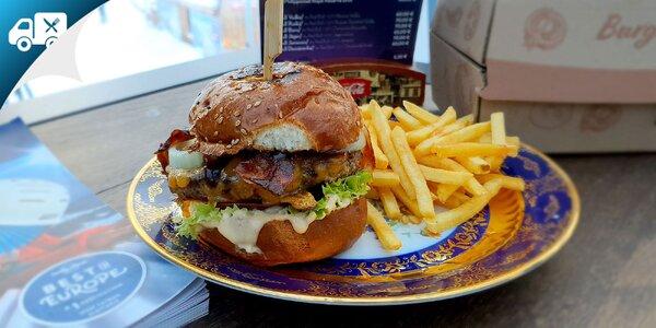 Kompletné burger menu s nápojom a donáškou až k vám domov