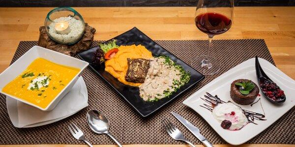 Exkluzívne 3-chodové menu v Bella Viktoria