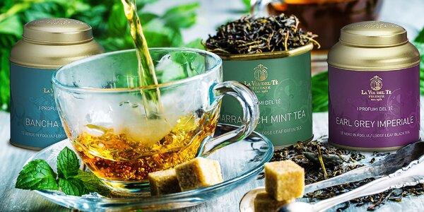 Čaj talianskej značky La Via del Tè: 9 príchutí