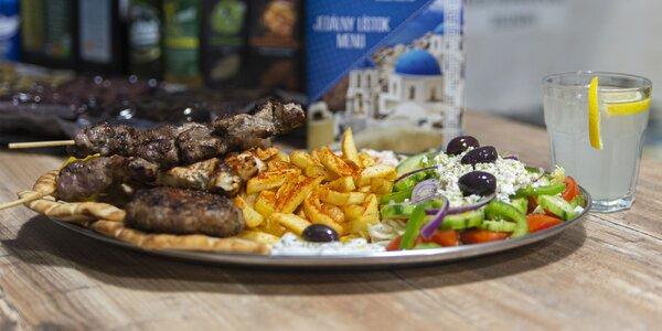 Voňavá porcia gréckych špecialít v centre mesta
