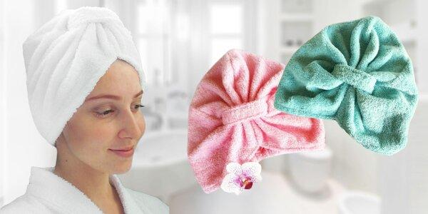 Praktický froté turban na vlasy: 100% bavlna