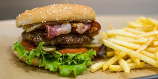 BIO hovädzie burger menu v bistre Zelený Strom