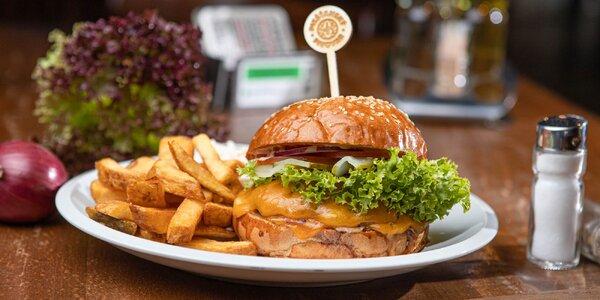 Burger alebo pivovarská doska + degustácia pív