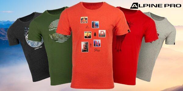Pánske tričká Alpine Pro s originálnou potlačou