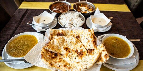 Indické menu Sindhu pre dvoch - aj pre vegánov
