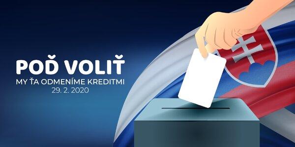 Poď voliť a my ťa odmeníme kreditmi!