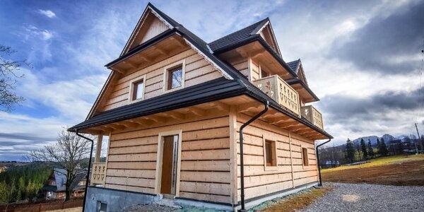 Krásny drevený domček s výhľadom na hory: pobyt pre 2 až 6 osôb