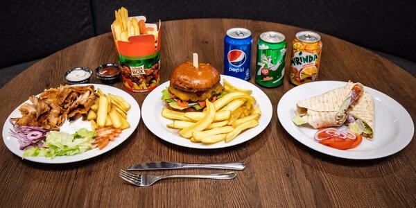 Mäsitý kebab alebo burger priamo v OC Mirage