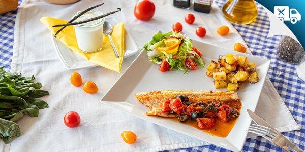 Gurmánske 3-chodové menu na donášku