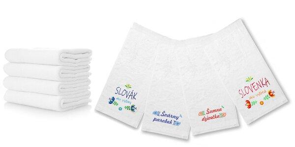 Froté uteráky a osušky s folklórnou tematikou