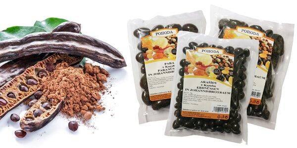 Ovocie a orechy obalené v karobe