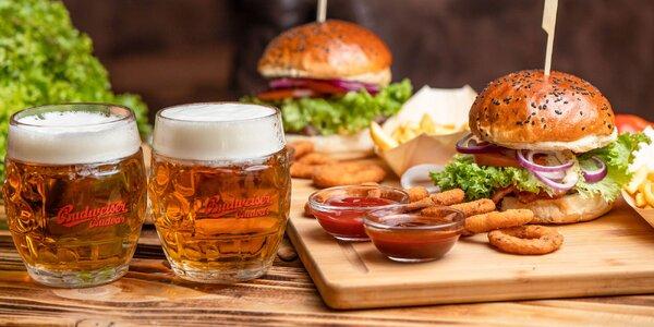 Hovädzí burger s tankovým pivom