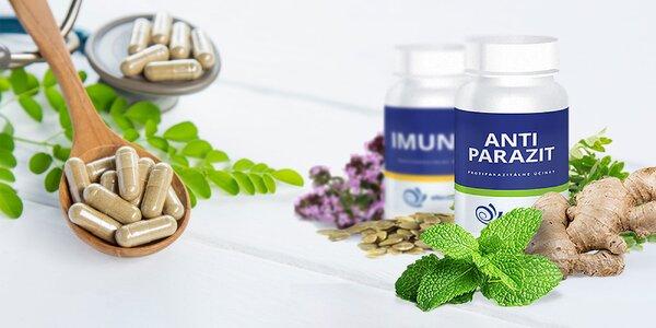 Bylinné výživové doplnky ANTI-PARAZIT a IMUNIX