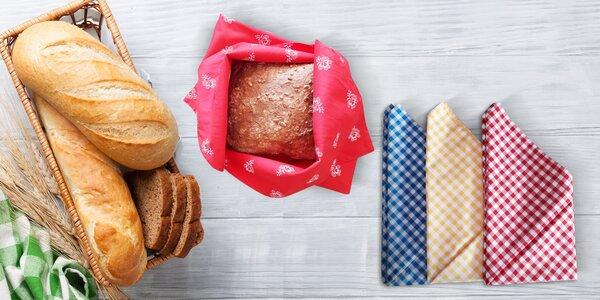 Ručne šité bavlnené šatky na chlieb