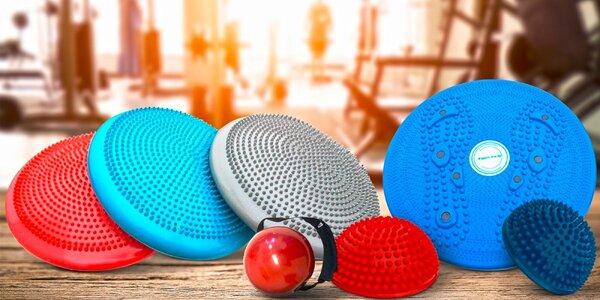 Masážny a balančný disk a ďalšie fitness pomôcky