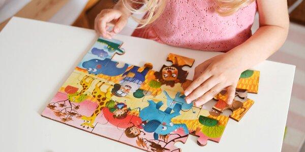 Krásne drevené puzzle pre všetkých drobcov
