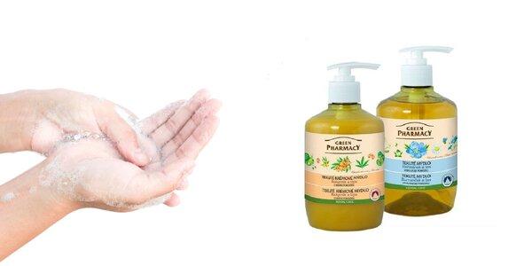 Výživné tekuté mydlá Green Pharmacy + darček!