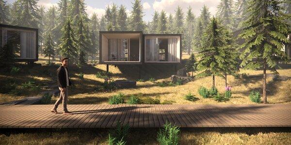 Dovolenka v nových, unikátnych Bjornson Tree Houses*** v Nízkych Tatrách