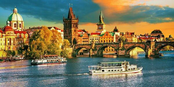 4 * pobyt v centre Prahy s raňajkami aj 3-chodovým menu pri Karlovom moste