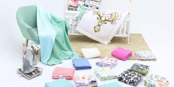 Neuveriteľne hebké a kvalitné detské deky Minky