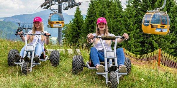 Užite si adrenalínový zjazd na horských kárach!