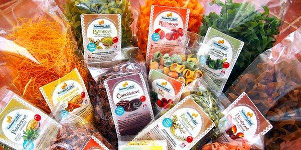 Balíčky cestovín: sladké, bylinkové aj hubové