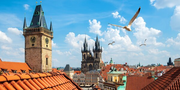 Pobyt s raňajkami pre 2 osoby v blízkosti Pražského hradu