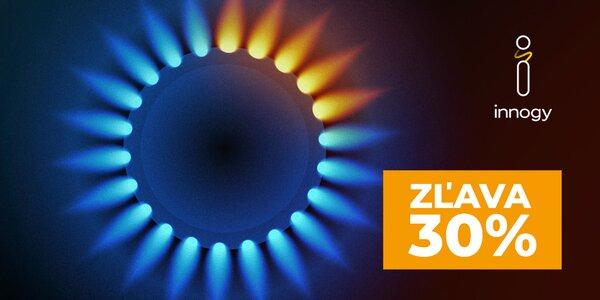 Zľava až 30 % z ceny za dodávku plynu od innogy!