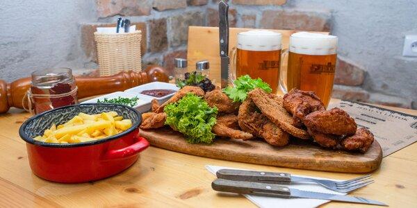 Misa mäsových dobrôt pre dvoch aj s pivom