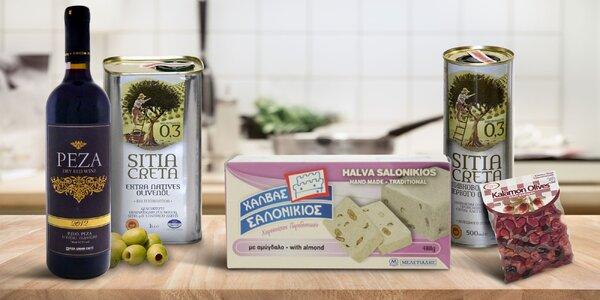 Lahôdky z Kréty: olivový olej, víno či chalva