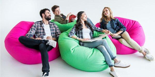Komfortné sedacie vaky vhodné aj do exteriéru