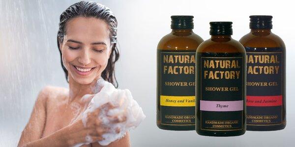 Organické sprchové gély s hydratačnými vlastnosťami