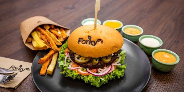 Nadupané vegánske burger či wrap menu