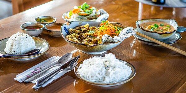 3-chodové menu vo vietnamskej reštaurácii Bamboo