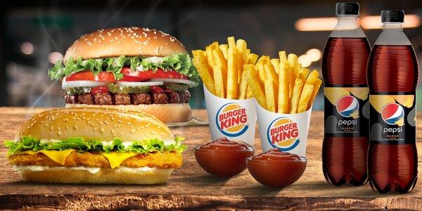 Menu pre 1 alebo 2 osoby v Burger King