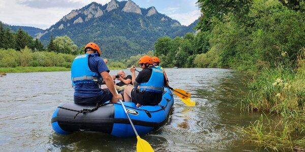 Splav Dunajca na rafte s kompletným výstrojom pre 4 až 9 osôb