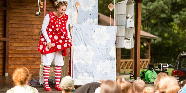 Otvorená vstupenka na letné bábkové predstavenia divadla BABADLO v exteriéri Ekoparku