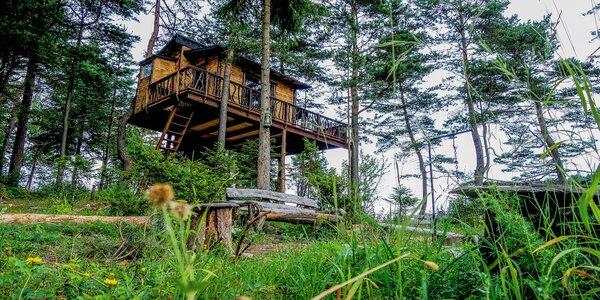 Rozprávkový domček v korunách stromov v blízkosti PIENAP-u