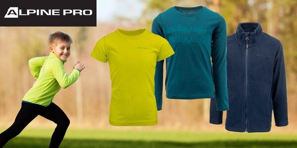 Detské tričká, mikina i zateplené nohavice Alpine Pro