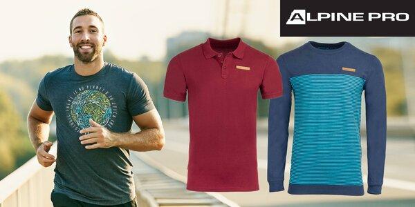 Pánske voľnočasové tričká a polotričká Alpine Pro